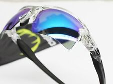 NEW OAKLEY Sunglasses FLAK 2.0 XL Clear Sapphire Iridium