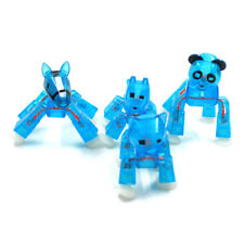 4PCS Blue Zing Stikbot ROBOT ANIMATION Pet Cat/Dog/House/Panda Figures