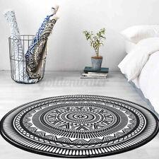 4 Sizes Round Non-slip Carpet Outdoor Floor Rug Mat Pads Geometric Acrylic
