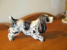 Vintage English/American Springer Cocker Spaniel Hunting Dog Porcelain Figurine