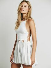 5289 New Free People Endless Summer White Live For Your Smile Halter Dress L