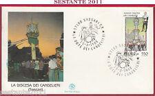 ITALIA FDC FILAGRANO SASSARI DISCESA DEI CANDELIERI 1988 ANNULLO SPECIALE Z277