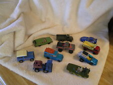 Lot of Toy Vehicles,Jeeps & Trucks (10) Hot Wheels.  Some Vintage,  #115