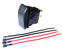 30Amp 12V DPDT Momentary Polarity Reverse DC Motor Control Rocker Switch + wires