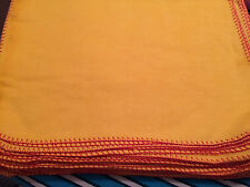 Heavy Duty Yellow Duster Extra Large Cotton Rich Economy pack of 10