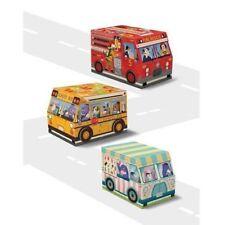 Punch Studio Nesting Boxes: Set of 3, Fire Truck, School Bus, Ice Cream Truck