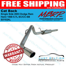 MBRP 2003 Dodge Ram Hemi 1500 5.7L SC/CC-SB Cat Back Single Side S5102AL