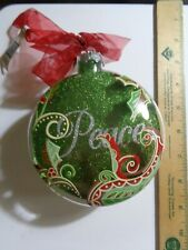Peace Green Round & Flat Shaped Ornament