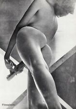 1966 Vintage 16x20 ~ FEMALE NUDE Woman Butt Art Photo Gravure By JOHN RAWLINGS