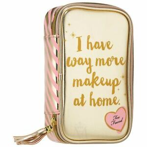 Too Faced Make up case pouch gold ORIGINAL