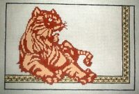 MZC Tiger HP Hand Painted Needlepoint Canvas