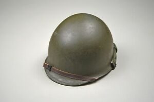 KOREAN WAR U.S. M1 STEEL COMBAT HELMET - COMPLETE & EXCELLENT