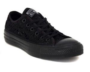 CONVERSE Chuck Taylor All Star Crochet Low Top Scarpe Sneakers BLACK 549312C