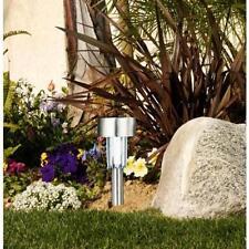 Solar Powered Outdoor LED Stainless Steel Garden Spotlight Landscape Lamp Light