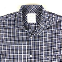 Billy Reid Mens Button Casual Shirt Size Small Plaid Long Sleeve Spread Collar