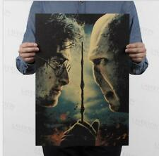 Harry Potter and the Deathly Hallows / Classic Movie Poster / Kraft Paper Post