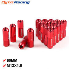 20pcs M12X1.5 60mm Extended Forged Aluminum Tuner Racing Wheel Lug Nut Red