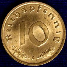 10 REICHSPFENNIG 1937 A GERMANIA GERMANY Q.Fdc A.Unc #1873A