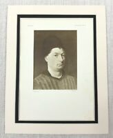 1927 Antico Stampa Olandese Vecchio Master Ritratto Dipinto Di a Man Petrus