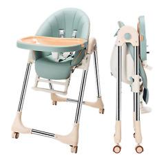 Kinderstuhl Babystuhl Hochstuhl Verstellbar klappbar Esszimmer Doppeltablett NEU