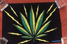 MARYJANE BLACK LIGHT POSTER VINTAGE ORIGINAL 1973 POSTER WEED POT POSTER