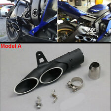 2 Hole Motorcycle Exhaust Muffler Pipe System DB Killer+38-51mm Connector Clamp