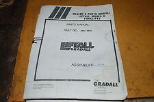 Gradall Series H Telescopic Forklift Material Handler Parts Manual Book Catalog