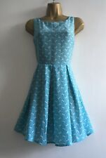 SUMMER SLEEVELESS TEA PARTY BLUE FLORAL DRESS  SIZE 12 BY GLAMOROUS