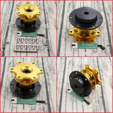 Golden Steering Wheel Quick Release Hub Adapter Removable Snap Off Boss Kit NEW