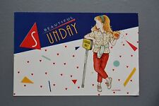 R&L Postcard: Kutsuwa, Beautiful Sunday Popcorn Fashion Girl