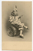 c 1903 French PIERROT CLOWN Kid w/ Mandolin early undivided back postcard