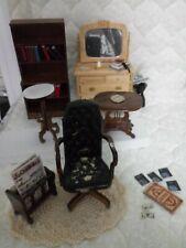 Vintage wood dollhouse furniture lot