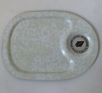 Vintage Boeing Airplane WINDOW PUNCH OUT Aluminum Tray 12.25 X 9 Family Day 1975
