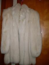 SAGA FOX FUR COAT WHITE SILVER COAT LADIES  SIZE SMALL S FITS MANY SIZES UP TO L