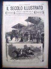 1901 CORSE CAVALLI SAN SIRO Milano expo polli conigli