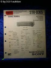 Sony Service Manual STR D365 Receiver (#1931)
