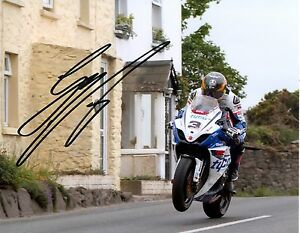 Guy Martin - 2012 Isle of Man TT Rhencullen Autographed 16 x 12 Picture.