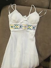 White Dress, Floral Mid, Medium, Never Worn