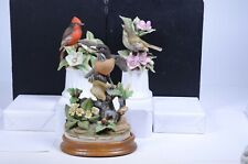 "(3) Vintage Andrea by Sadek Robin Flycatcher Kinglet Bird Figurines 8""H & 9""H"
