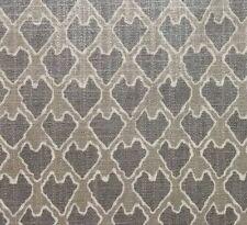 "BALLARD DESIGNS EVIE PEWTER GRAY ARROWHEAD METALLIC SHEEN FABRIC BY YARD 55""W"