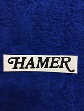 Hamer Guitar Headstock Decal Sticker Repair Project Explorer USA Custom BLACK