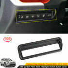 For Toyota RAV4 2019-2021 ABS Carbon Fiber Style Headlight Switch Button Cover