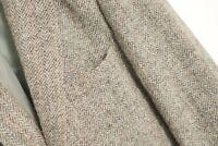 Hommes Harris Tweed Veste Blazer Écossais Laine Gris EU50 UK/US40 M HA418
