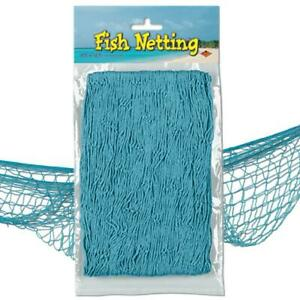 FISH NETTING UNDER THE SEA NAUTICAL PARTY ROOM DECORATION - CHOOSE YOUR COLOUR