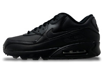 Nike Air Max 90 Leather Black Mens Running Lifestyle Shoes Size 13 302519 001
