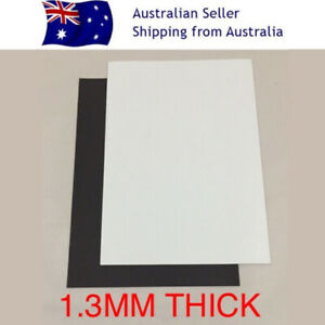 X2 A4 1.3mm Blank White PVC Magnet Sheet DIY Hand Craft Fridge Office Design