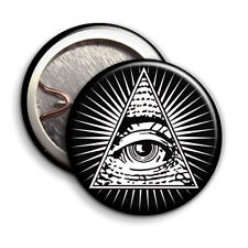 Illuminati Eye - Button Badge - 25mm 1 inch - Secret Society