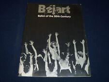 1979 BEJART BALLET OF THE 20TH CENTURY PROGRAM - BELGIUM - NICE PHOTOS - J 5045