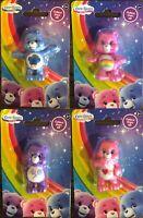 Care Bears Collectible Mini Action Figures - Set of 4 - Grumpy Bear, Share Bear+