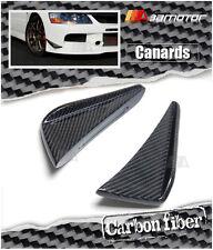 Carbon Fiber Front Bumper Side Canards for Mitsubishi Evolution IX EVO 9 CT9A